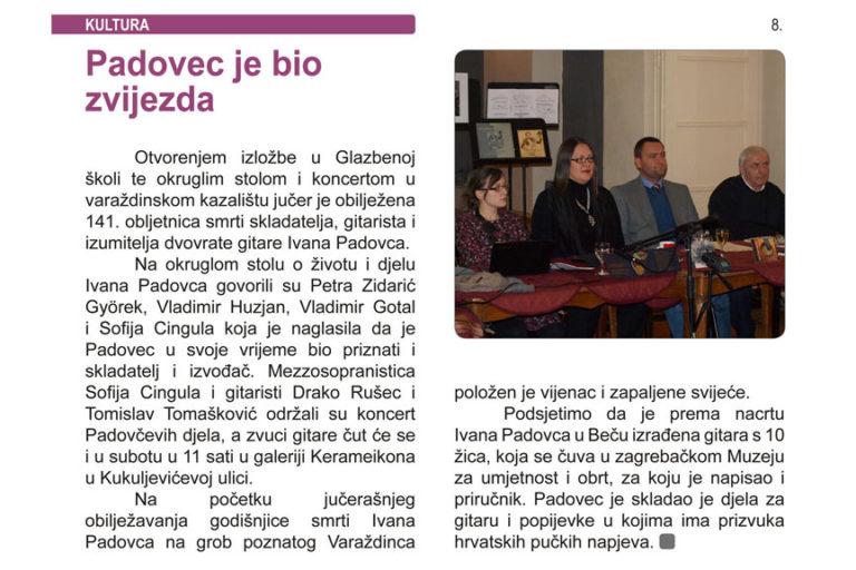 Jutarnji varaždinski, 5.11.2014. str.8