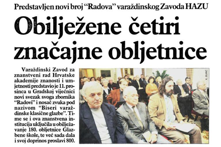 Varazdinske vijesti, 23.12.2008, str.15.
