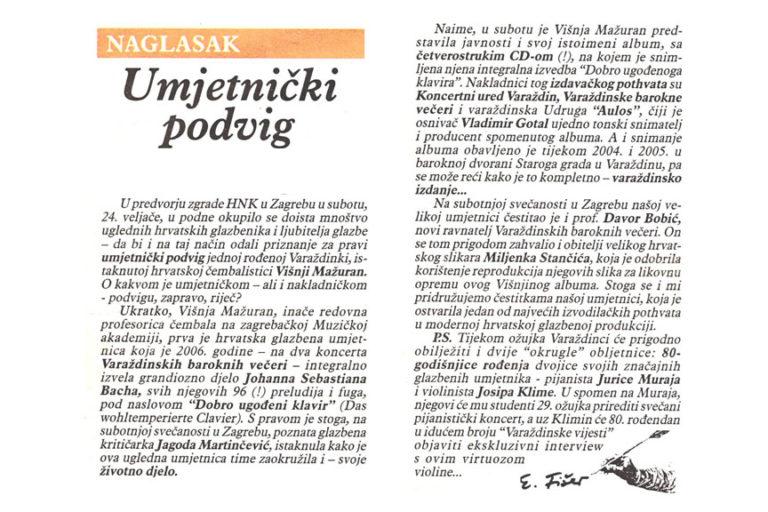 Varazdinske vijesti, 28.2.2007. str.1.