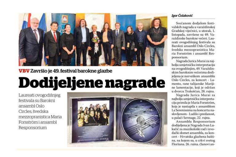 Varazdinske vijesti, 8.10.2019