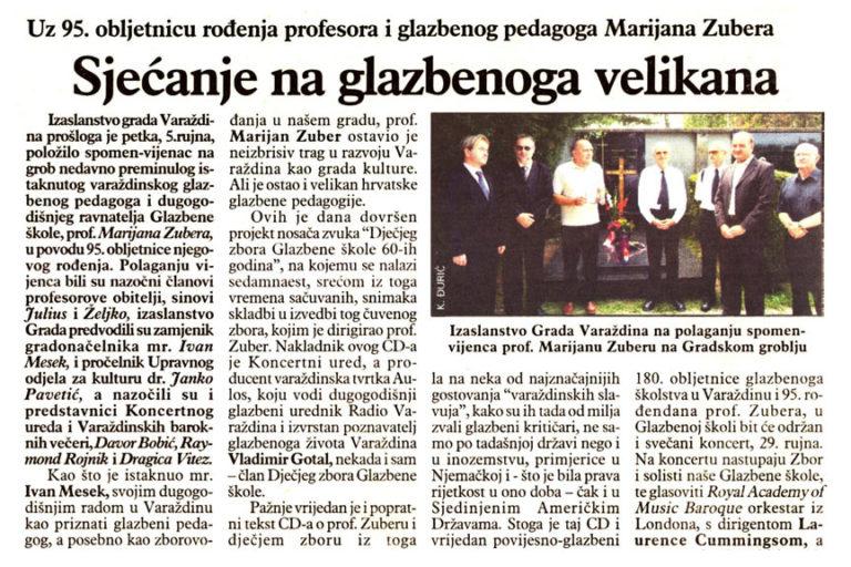 Varazdinske vijesti, 9.9.2008, str.14