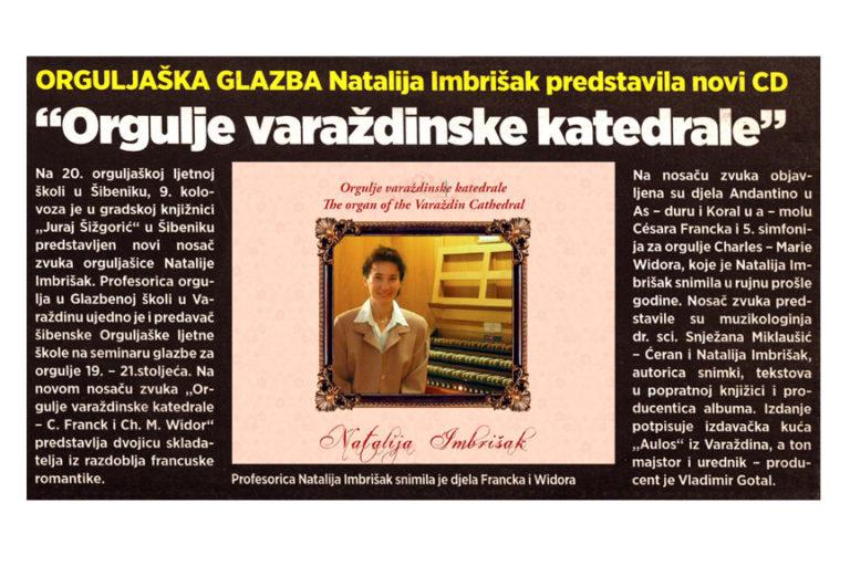 Varazdinski tjednik, 19.8.2013. str.14 - Natalija Imbrišak