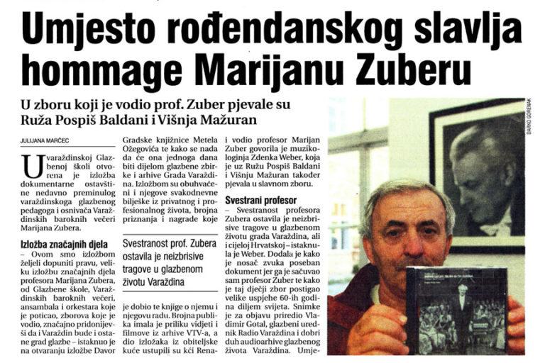 Vecernji list - Varazdin i Medjimurje, 1.10.2008. str 9.