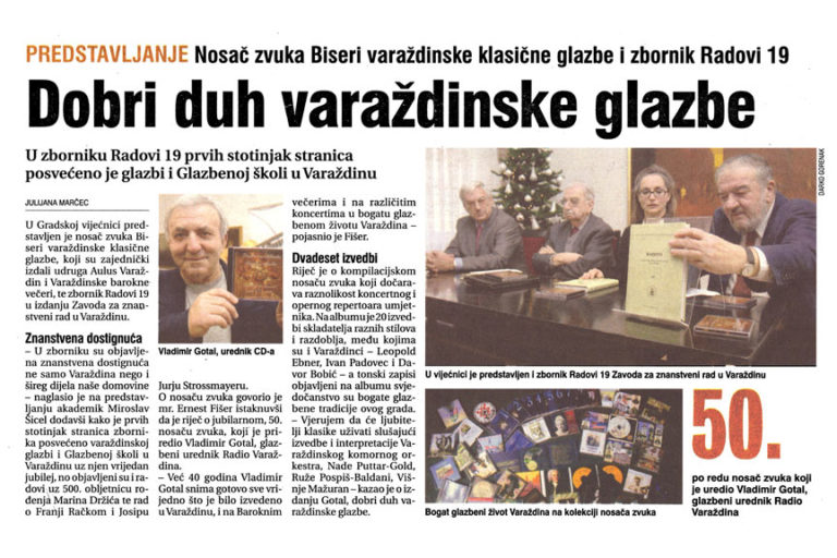 Vecernji list - Varazdin i Medjimurje, 12.12.2008, str.8