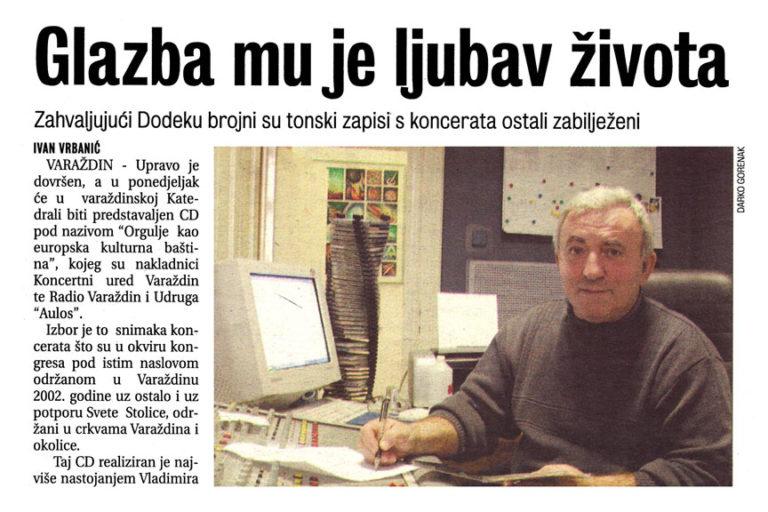 Vecernji list - Varazdin, Medjimurje, Zagorje - 13.12.2003. str.20