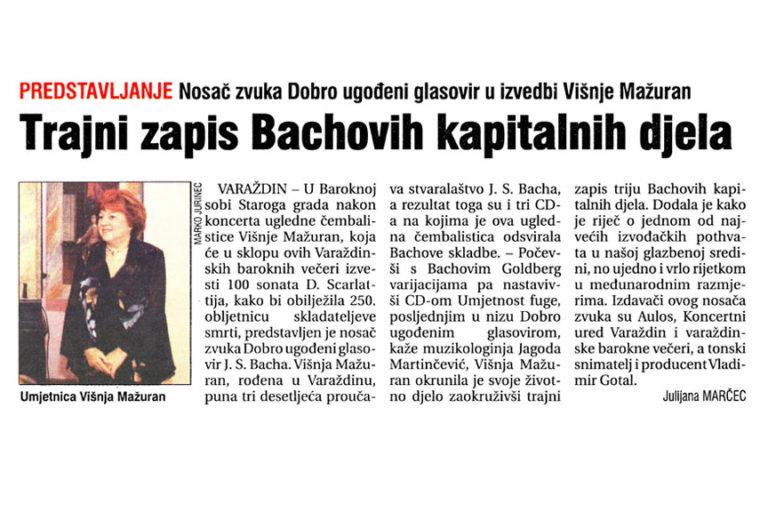 Vecernji list - Varazdinska zupanija, 25.9.2007. str.24.