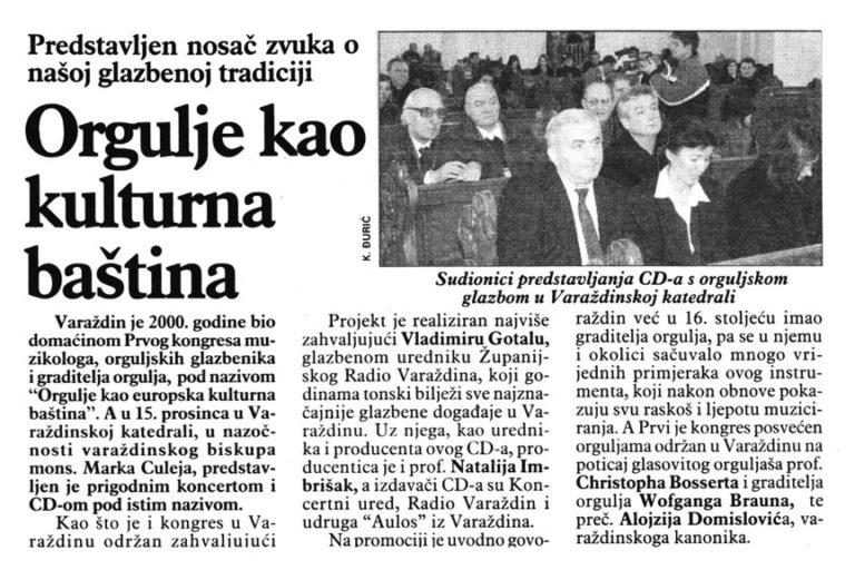 Vecernji list - Varazdin, Medjimurje, Zagorje - 13.12.2003,