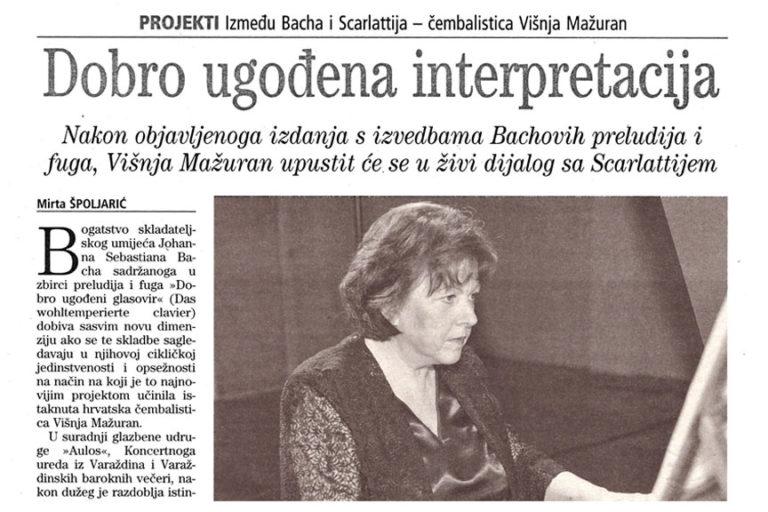 Vjesnik, 30.5.2007. str.17.